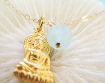 "Buddha Charm Necklace - ""Enlightened One"""