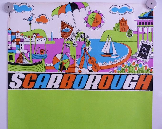 Travel poster Harry Stevens Scarborough 1960's Vintage MCM