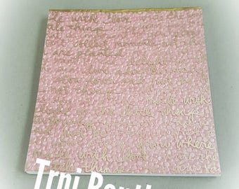 Pink Gold Inspirational Notepad