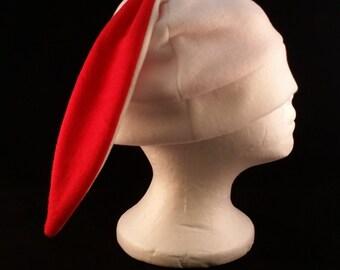 Custom white bunny rabbit hat short ears