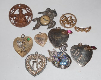 10 Odd Vintage pieces for Jewelry Making.