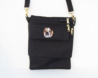 English Bulldog Dog Purse, Convert-A-Bag, Sectional Bag, Organizer Purse