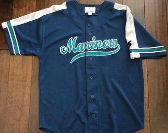 Vintage Starter Seattle Mariners Sewn JerseyMen/Adult Large