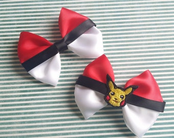 Pokeball Pokéball Pokémon Hair Bow