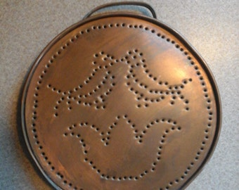 vintage punched copper wall hanging decorative copper punched tin copper