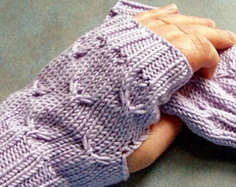 Mini Hand Warmers Soft Pale Lilac Cashmere Blend Yarn