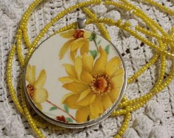 Victorian Vintage Broken China Jewelry Pendants