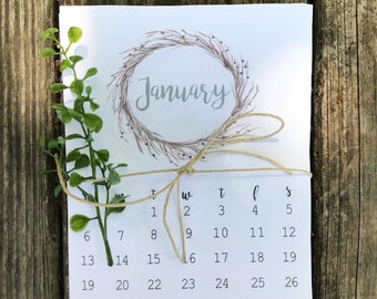 2018-2019 Desk Calendar    Wreath Calendar    Mini Calendar    2018 Calendar    2018-2019 Planner    Small Calendar