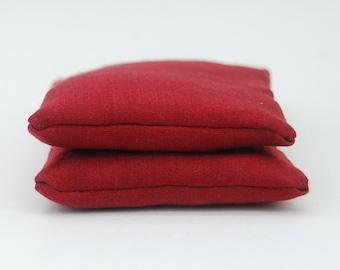 Drawer Sachet - Organic Lavender - Red Hemp Silk - Set of Two - Eco Friendly - Stocking Stuffer