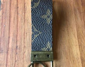 Keychain made from vintage Louis Vuitton handbag.