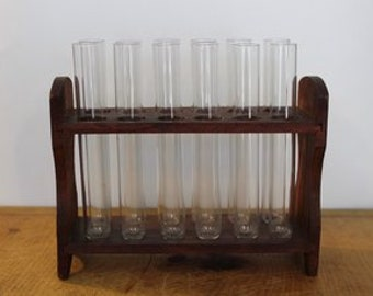 Test Tube Rack with Glass Tubes
