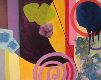 Acrylic Painting and mixed media