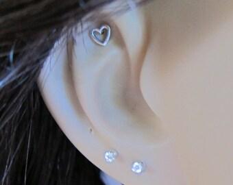 Tiny Heart Cartilage Earring