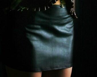 Baby Doll Leather Skirt, Lambskin Skirt, Long Pencil Skirt, Evening Skirt, Short Work Skirt, Micro, Mini, Knee, Cocktail, Midi, Long, Maxi