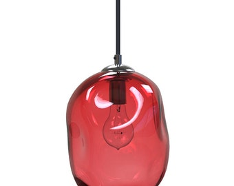 APRICOT River Rock Hand Blown Glass Pendant Light Lighting Glass Pendants and Chandeliers