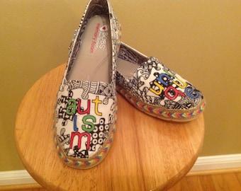 Autism Awareness Puzzle Shoes