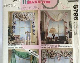 McCalls 5796 Home Dec In-A-Sec Sewing Pattern