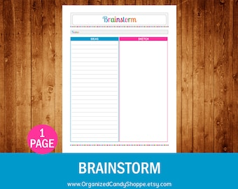Brainstorm - Instant Download PDF Printable