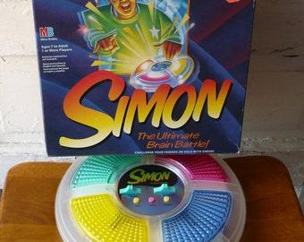 Vintage Simon Electronic Game Clear Full Size  Milton Bradley 1997