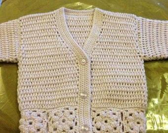 Babies crochet cardigan