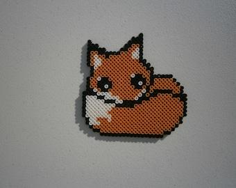 Cute fox perler