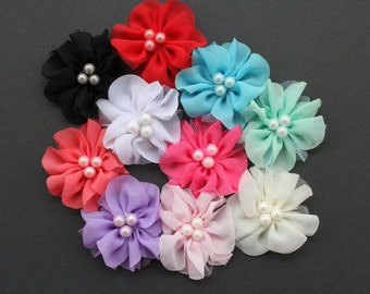Wholesale DIY Chiffon Flower Embellishment Craft DIY for Headbands Hair Clip Free Postage