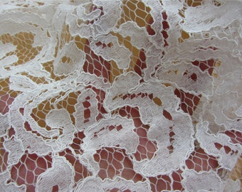 Corded Lace Fabric,off white wedding lace fabric-LSMB0026