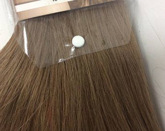 """Light brown (8)  100% human hair clip in extensions   14""""  18""""  20"""""""