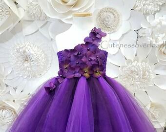 Eggplant Girl Dress-Eggplant Tulle Dress-Eggplant Flower Girl Dress-Girl Tutu-Eggplant Wedding Girl Dress-Toddler Dress-Eggplant Lace Dress.
