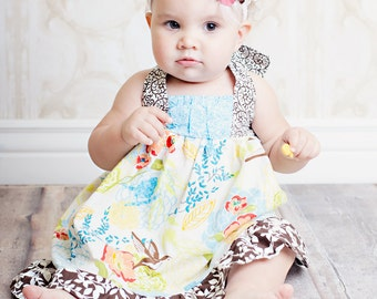 Girls Dress Pattern, Easy Sewing PDF Pattern, Sewing Patterns The Riley Dress 12m-8