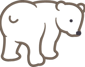 Bear cub appliqué design download for embroidery machine
