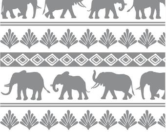 Gray Crib Sheet -Elephant Nursery Bedding /Mini Crib Sheet /Fitted Baby Sheet / Grey Changing Table Cover/ Babyletto Origami Mini Sheet /