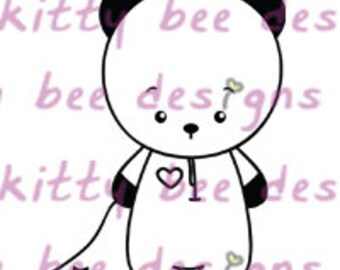 Sleepy Time Panda Digital Stamp