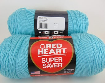 Aruba Sea -  Red Heart Super Saver yarn worsted weight - 2058