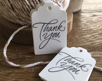 Printed Thank You Tags- Wedding, Bridal Shower, Favor Tags, Packaging
