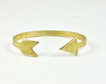 brass arrow BRACELET cuff jewelry (S207)