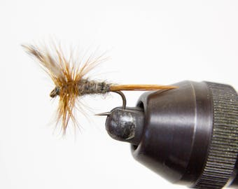 Trout fly set. Dry and nymph mayfly assortment.