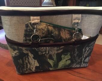 Lg Reversible, Sleeve, Handbag, Homemade, Multiple inside Pockets, Adjustable Straps, Fabric Purse, Extra Zipper Pouch