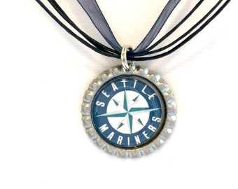 Seattle MARINERS Baseball Handcrafted Necklace