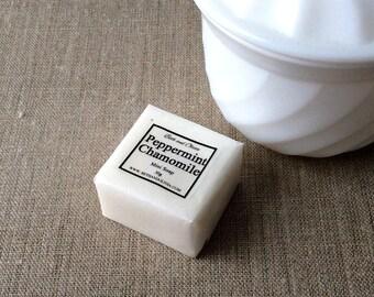 Peppermint chamomile Mini Guest Soap, wedding favors, soap favors, peppermint soap, chamomile soap, mini soap, bridal shower favors,