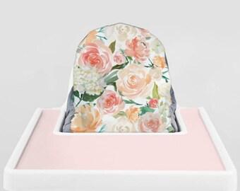 Peaches and Cream // IKEA Antilop Highchair Cover // High Chair Cover for the KLÄMMIG or PYTTIG Cushion // Pillow Slipcover