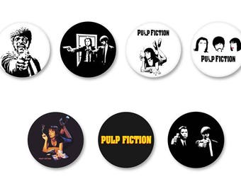 Lot Pins Ø25mm - o38mm Pinback Button Badge / Magnet o38mm Pulp Fiction