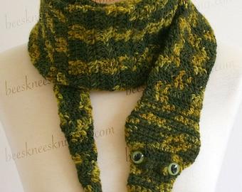 Digital PDF Crochet Pattern for Snake Scarf - DIY Fashion Tutorial - Instant Download - ENGLISH only