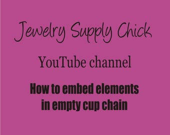 FREE Empty cup chain tutorial