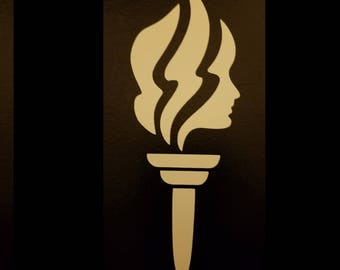 Vinyl Young Womens Torch Sticker