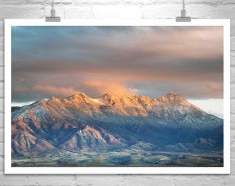 Tucson Landscape, Santa Rita Mountains, Madera Canyon Art, Murray Bolesta, Arizona Landscape, Arizona Mountains, Arizona Gift, Tucson Gift