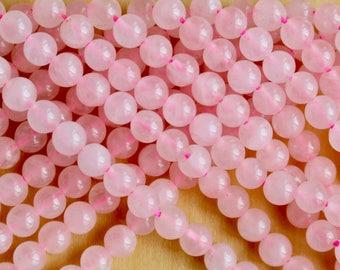 6mm Rose Quartz beads, half strand, natural stone beads, round, 60048