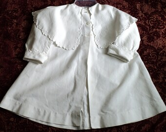 Antique Coat Victorian Childs White Jacket Reduced Price