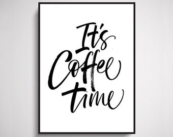 Coffee Time Typographic Design