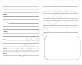 "Weekly Layout v.19 SAMPLER Half-sheet 8.5""x5.5"""